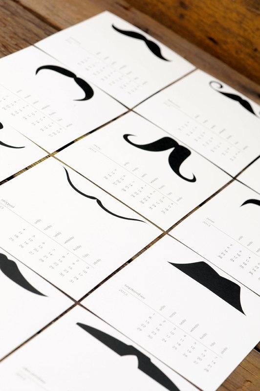 Mustache calender. Ruffhouseart art