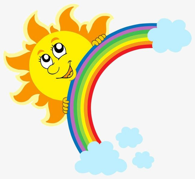 мультфильм солнце радуга, мультфильм, солнце, радуга PNG и ...