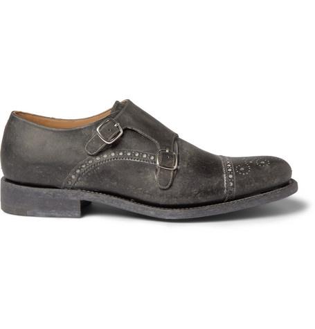 O'Keeffe Manach Washed-Leather Monk-Strap Brogues | MR PORTER: Men'S Shoes, Brogue Mr Porter, Men Style, Men Shoes, Monkstrap Shoes, Men'S Style, Dresses Classy, But Dresses, Monk Straps Shoes