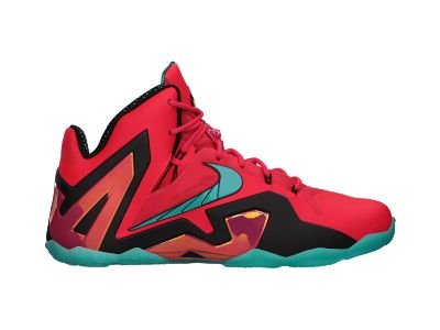 The hip hop teacher at my daughter's dance school was wearing these last week (mid-May), and they look otherworldly.  I really love them.  The price is outrageous, and I would never consider them for me or my family of course... but I do love them.  They hit the superhero theme square on its head.  LeBron 11 Elite Men's Basketball Shoe