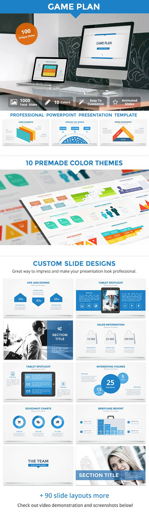 13 best powerpoint templates images on pinterest presentation game plan v2 powerpoint template toneelgroepblik Image collections