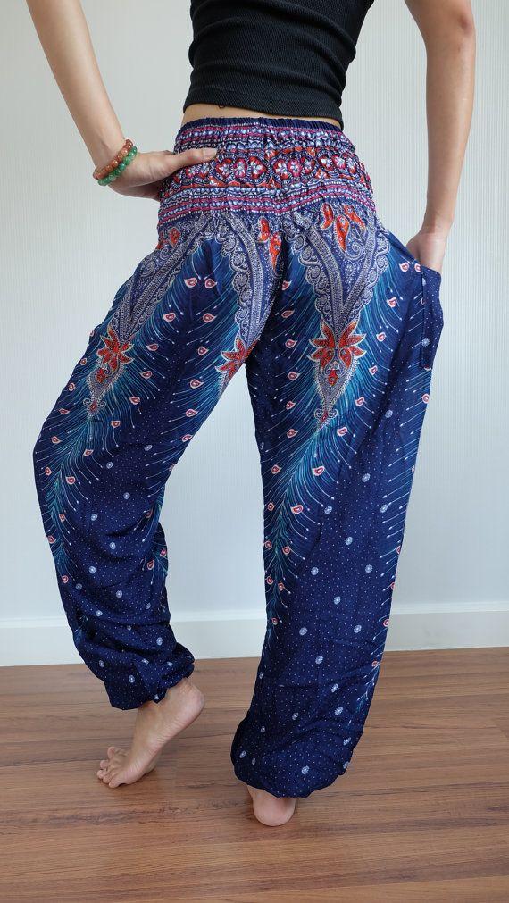 Aladdin Trouser Boho Pants Gypsy Pants Rayon by IndycraftsDesigns