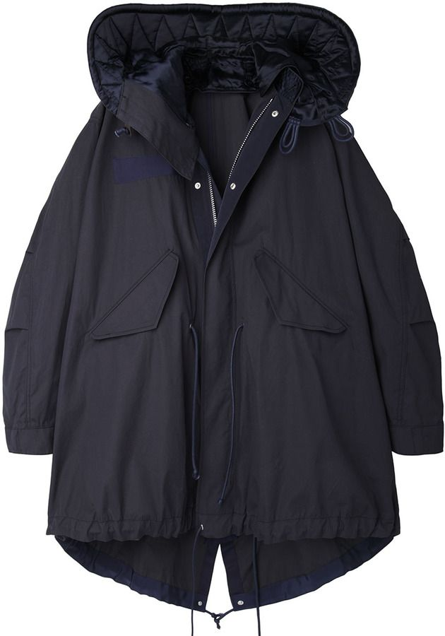 Sacai Luck / cape parka on shopstyle.com