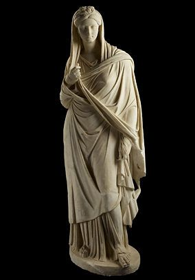 The statue of Sabina (2nd century AD). woman in stola and palla