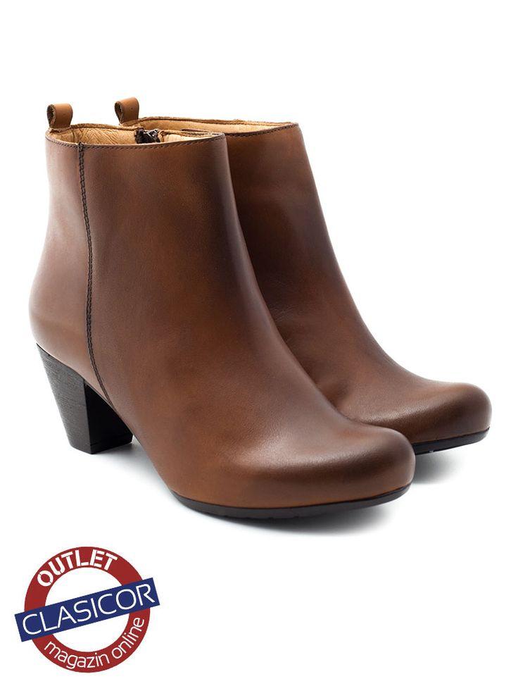 Botine din piele intoarsa pentru femei – 4012 Camel – Pantofi piele online / outlet incaltaminte piele | Clasicor