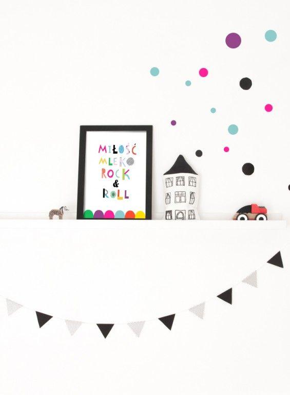 Ilustracja do pokoju Noworodka, miłość, mleko - Printlove - grafiki do wnętrz, ilustracje dla dzieci, plakaty. -