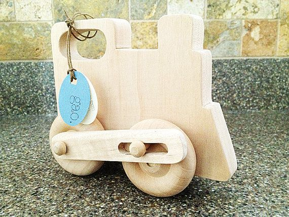 Wooden Push Toy  Super Action Train Toy  Organic by LikuGao, $29.99