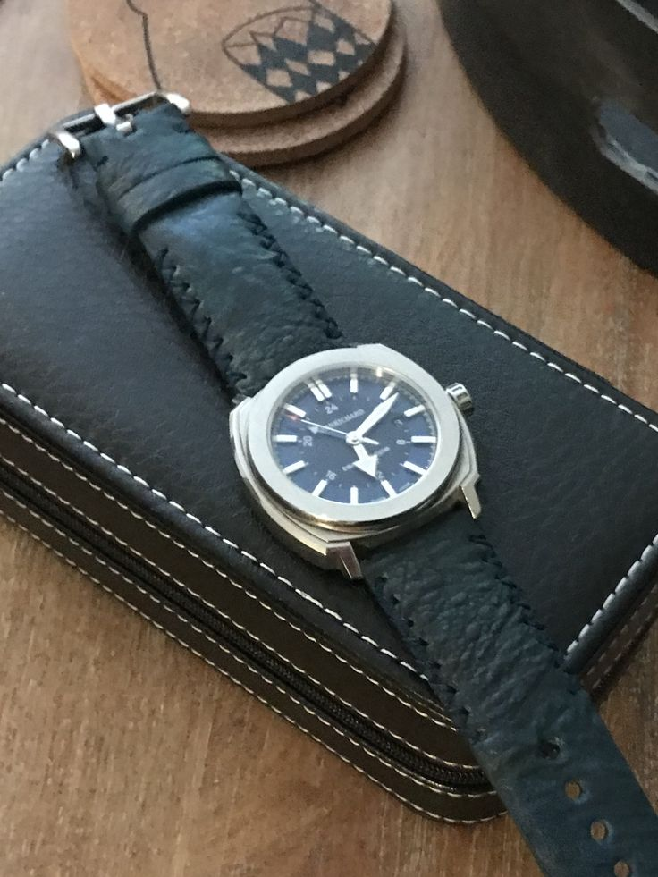 This is my Jeanrichard Terrascope with a new costume made blue ostrich leather strap which I ordered from Vietnam and I just love it. Quality and handwork is great as we'll as it' look great. And the price was a laugh. This is my 4th strap from Vietnam and this company and I'm satisfied with them all.