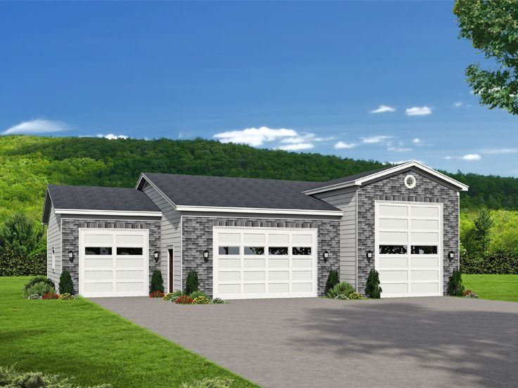 115 best rv garage plans images on pinterest rv garage for Garage plans with boat storage