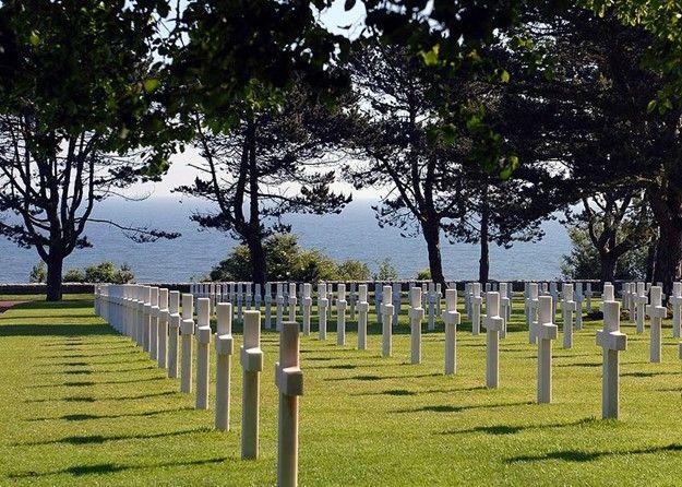 Amerikanische Soldatenfriedhof in Colleville-sur-Mer