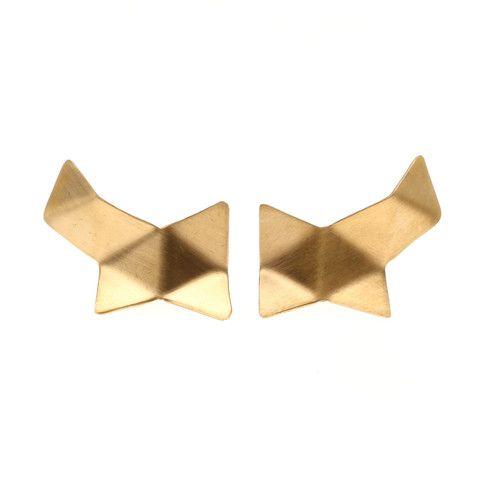 Malene Glintborg, Origami, ørestik, ørering, forgyldt sølv, mat