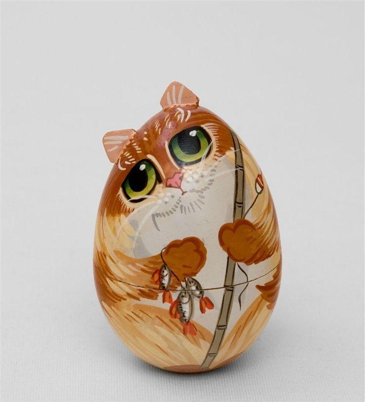Интересные пасхальные яйца с изображением котов и кошек: 11 ...