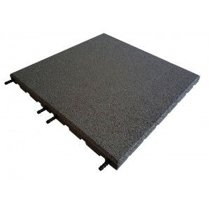 Castleflex Rubber Promenade Tiles 500mm x 500mm x 30mm Charcoal Grey