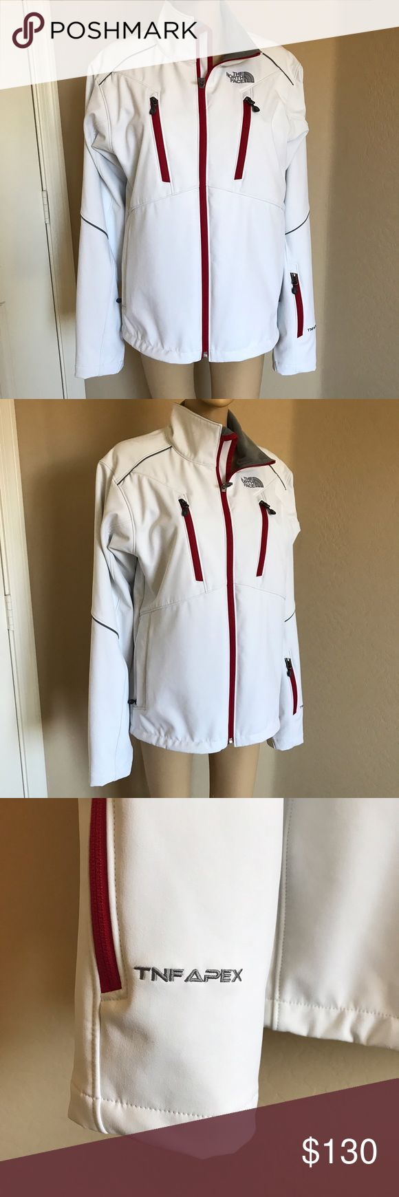 North Face TNK APEX Jacket Mens jacket, extremely warm with fleece trim on inside. View last photo for small stain, barely noticeable & you may be able to remove with stain removing spray. The North Face Jackets & Coats Performance Jackets