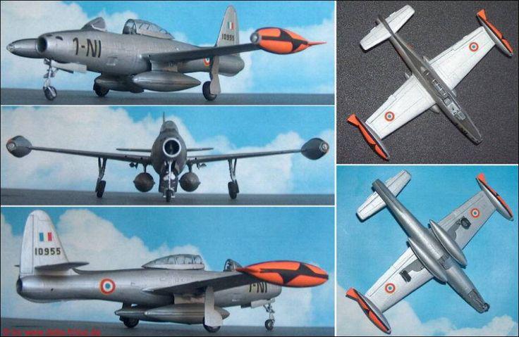 """Republic F-84G """"Thunderjet"""" Jäger (Heller 278) 1:72"""