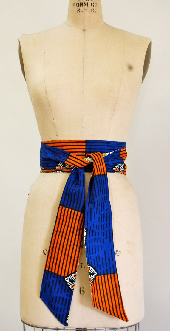 African Fabric Obi Belt