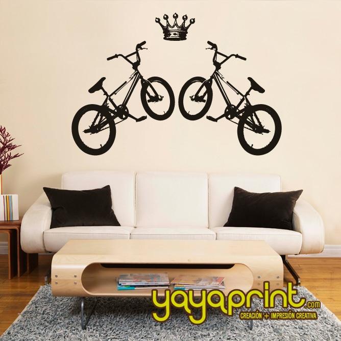Vinilo decorativo pared bike bici hecho en espa a for Tu vinilo decorativo