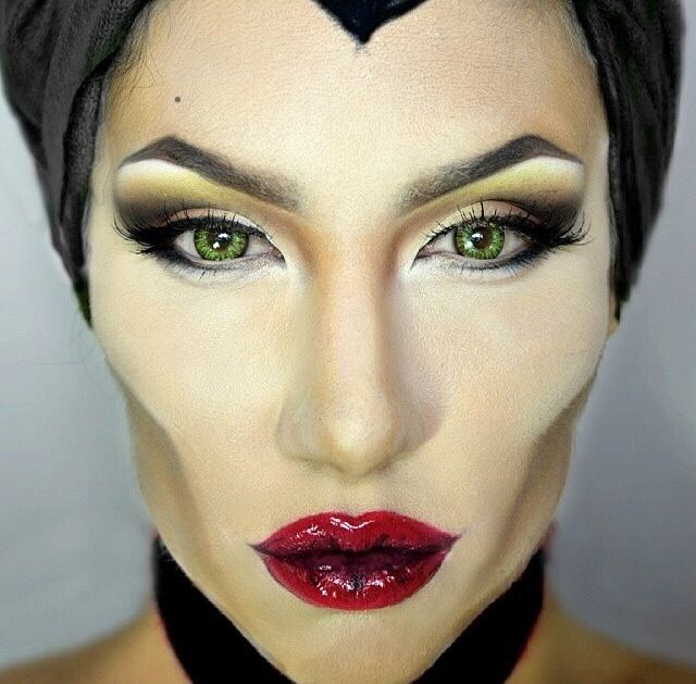 I can see Maleficent makeup being a theme for Halloween