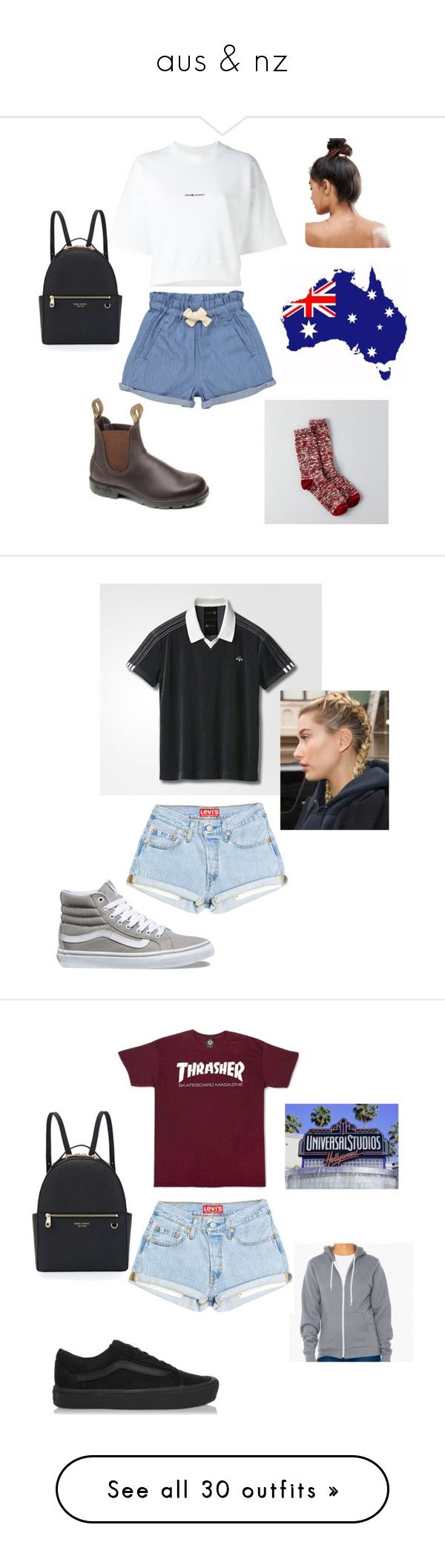 """""""aus & nz"""" by cookiescore on Polyvore featuring American Eagle Outfitters, Tootsa MacGinty, Yves Saint Laurent, Kitsch, Henri Bendel, Vans, Michael Kors, Puma, Topshop and adidas"""