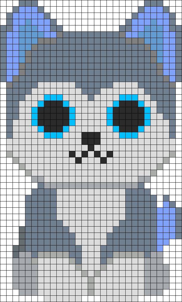 Slush Husky Beanie Boo Perler Bead Pattern / Bead Sprite