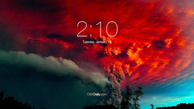 Get a Gorgeous iOS 7 Lock Screen Inspired Screen Saver for Mac OS X