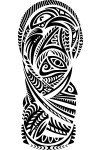 PNG New Ireland Canoe Prow inspired Tattoo