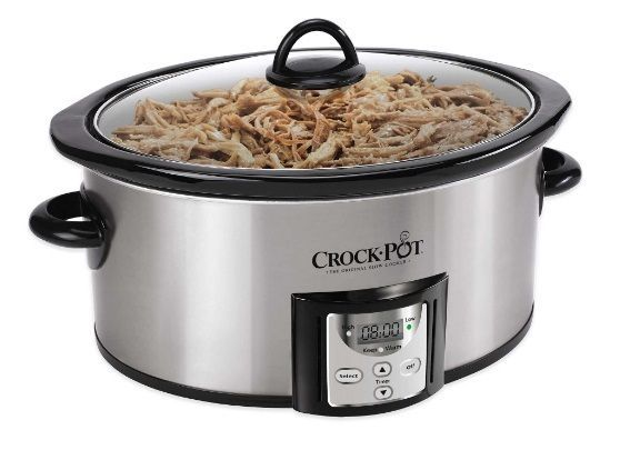 Oval Shaped Programmable Crock-Pot® 4 qt. Count Down Slow Cooker Manual Included #CrockPot
