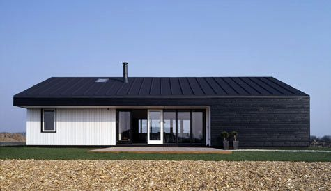 Black Stained Timber Cladding And Zinc Style Roof N Y