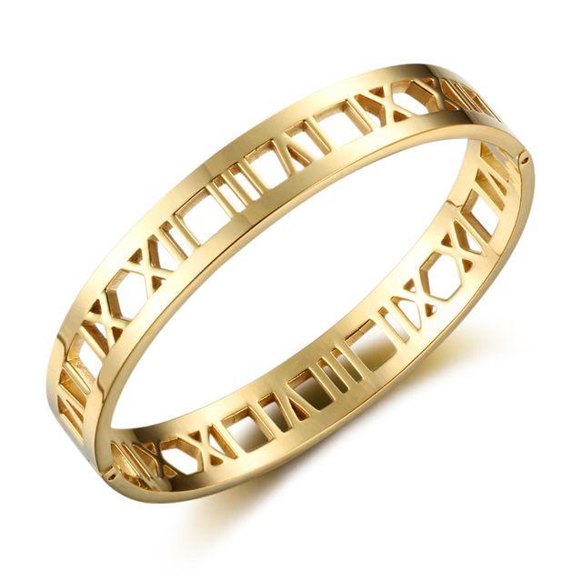 Геометрический браслеты для женщин из розового золота Шарм браслет ювелирные изделия любовь браслет из нержавеющей стали для женщин