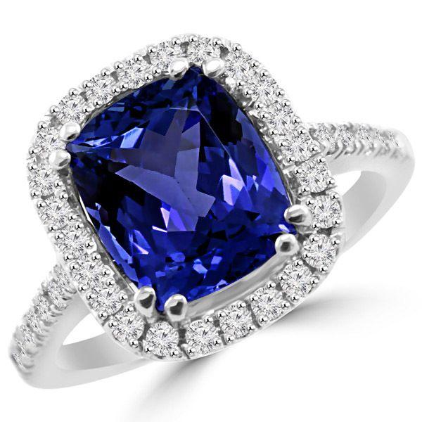 tanzanite engagement rings platinum - 600×600