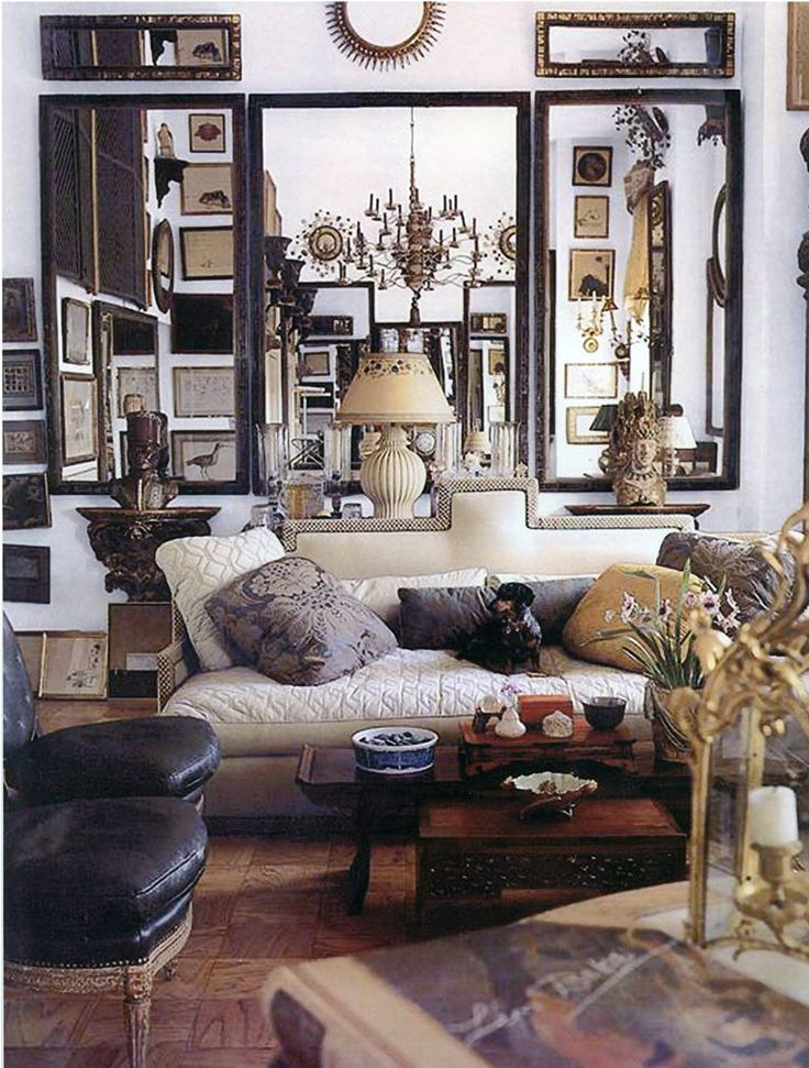 Parisian apartment .. Edward Zajac classic with hint of bohemia More