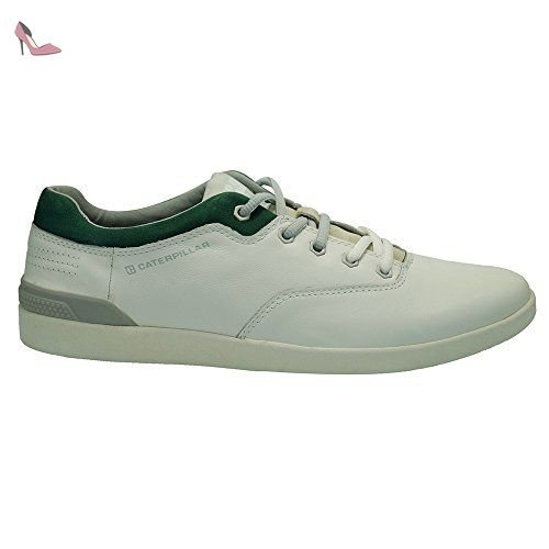 Caterpillar Scorch Blanc-Vert - Chaussures Baskets basses Homme