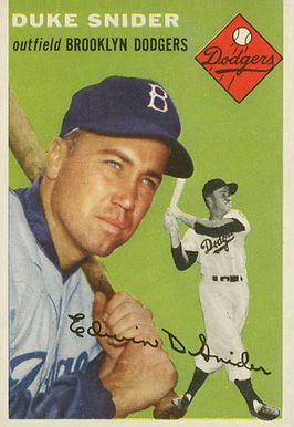 duke snider baseball cards | 1954 Topps Duke Snider #32 Baseball Card Value Price Guide