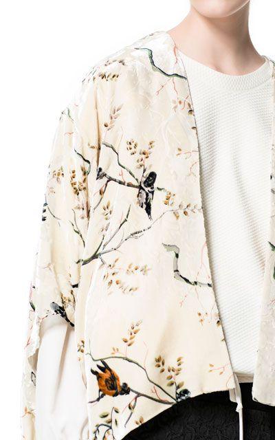 Zara printed kimono (GBP 70)
