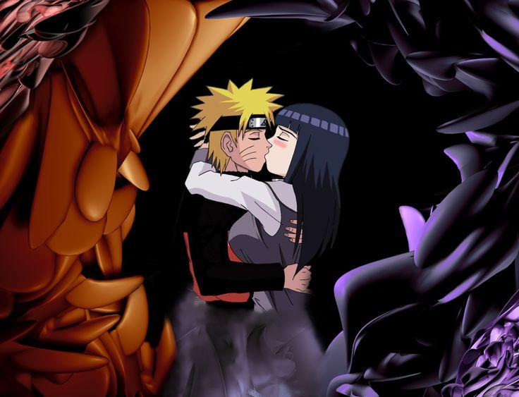 Anime Naruto  Hinata Hyūga Amor Kiss Anime Naruto Uzumaki Papel de Parede