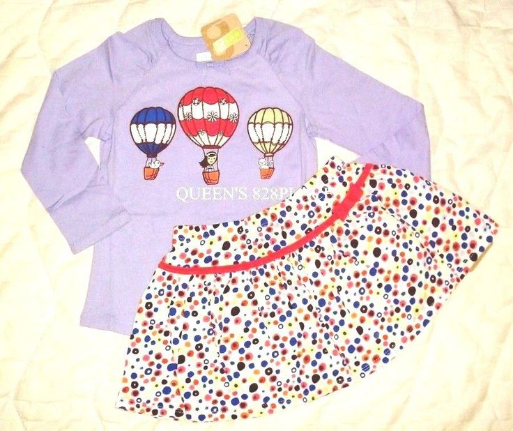 Nwt Girls Crazy 8 Set Lot size 4 4T Purple Balloon Top dot Skirt skort Outfit  #Crazy8 #SkirtOutfit #DressyEverydayHoliday