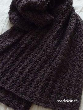 かぎ針編みのストール・編み図 |madeleine's blog