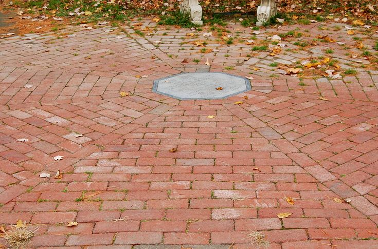 Easy Backyard Landscaping Ideas For Beginners In Square: The Basket Weave Brick Pattern Makes An Easy Patio For