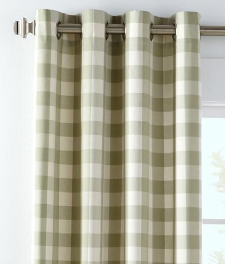 Buffalo Check Grommet Top Curtains 119 95 189 95