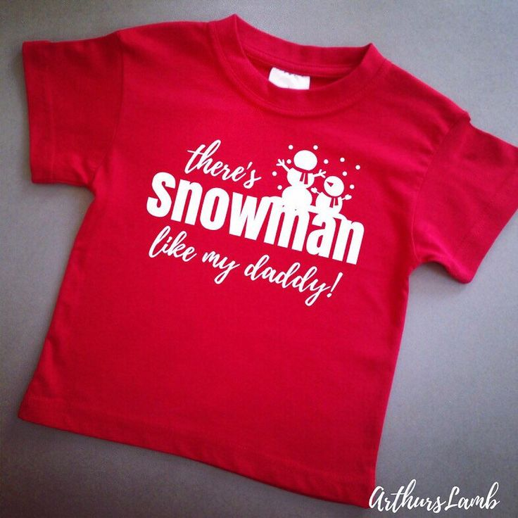 Make Daddy proud with this cute Snowman t-shirt