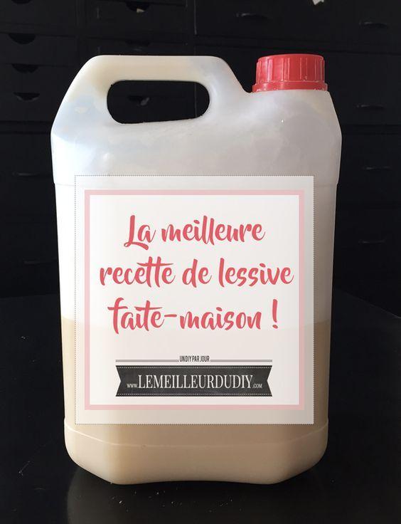 DIY Je fais ma lessive maison et c'est facile ! La vraie recette testée et approuvée ! http://www.lemeilleurdudiy.com/faire-sa-lessive-soi-meme-diy-facile/