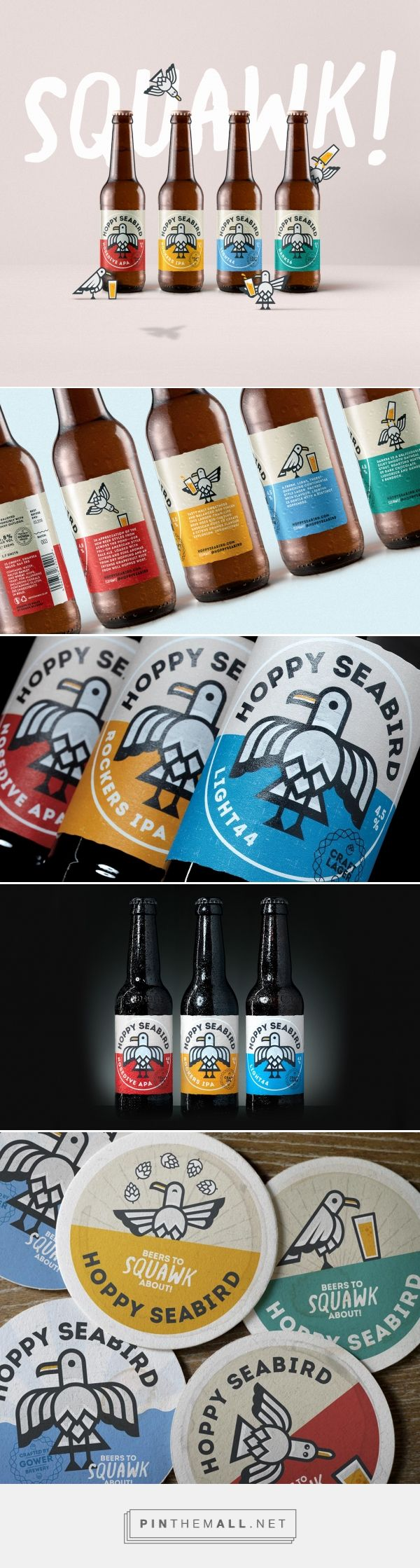 Hoppy Seabird beer label design by Limegreentangerine - http://www.packagingoftheworld.com/2017/03/hoppy-seabird.html