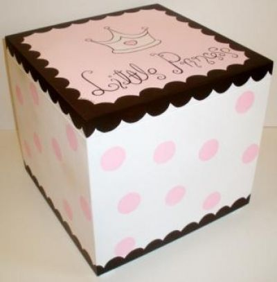 Wooden Baptism/ toy box themed Little princess  at www.happyrooms.gr