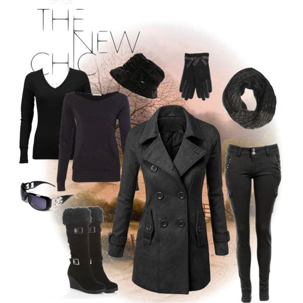 """My Style - Late Autumn - Peacoat & Sweater Layers"" by illustre on Polyvore"