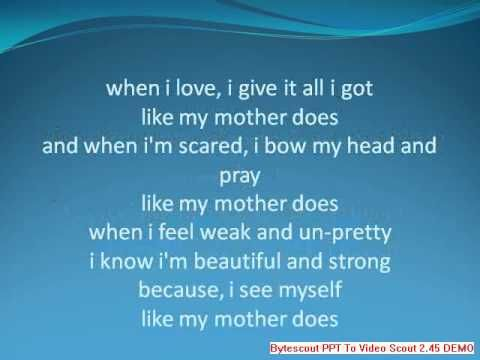 American Idol Finalist Lauren Alaina Lyrics Like My Mother Does...    This is my first attempt at doing lyrics... i had a lot of fun with this song... I voted over 100 times final night for her!! Lauren, YOU ROCK!!!!