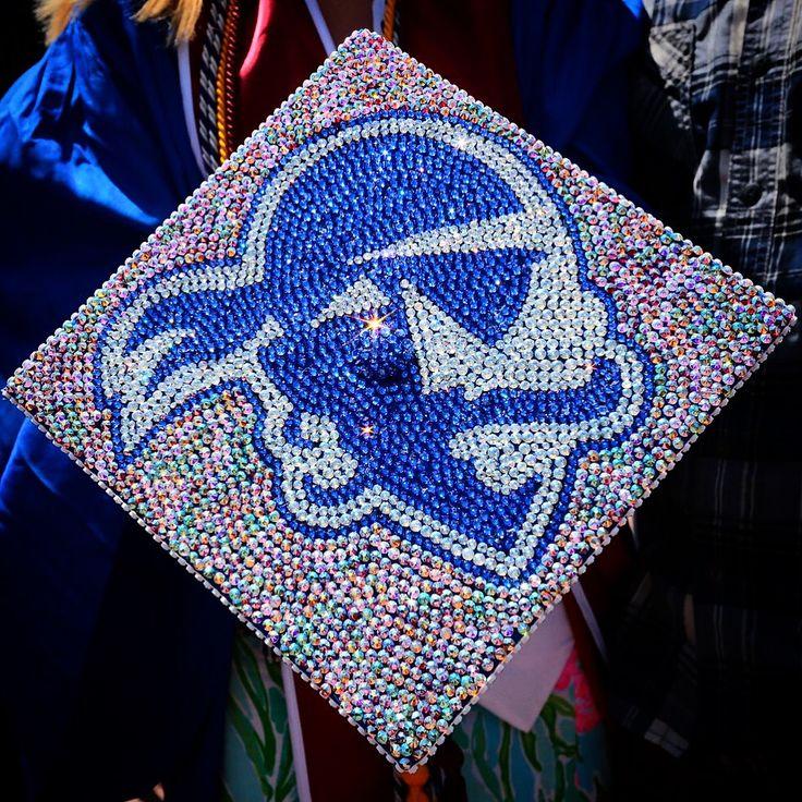 3000+ rhinestones for my Seton Hall University Graduation Cap.