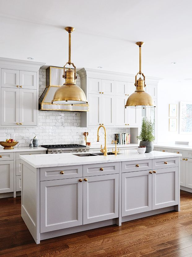 The 10 Best Kitchens on Pinterest with Gold Hardware ...