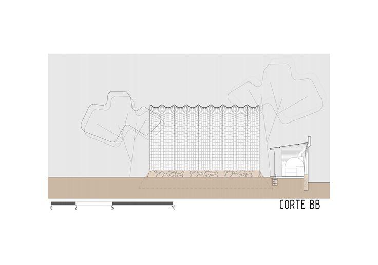 Imagen 26 de 27 de la galería de Catenarius: una bóveda experimental de ladrillos de suelo cemento armado. Corte B-B