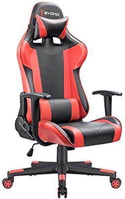 gaming chair amazon replica aeron style ergonomic com devoko racing adjustable height high back pc computer with headrest and lumbar massage support executive
