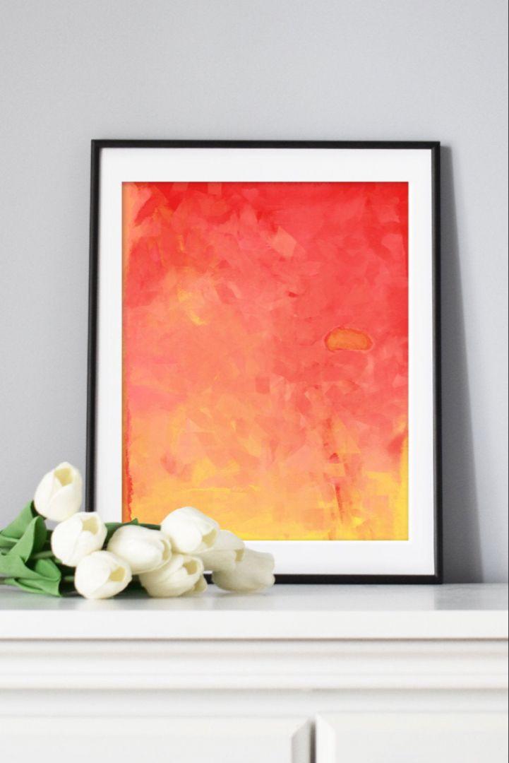Printable Orange And Yellow Abstract Art Affordable Home Decor Yellow Living Room Art Orange Bedroom Decor Abstract Art Download Living Room Art Abstract Art
